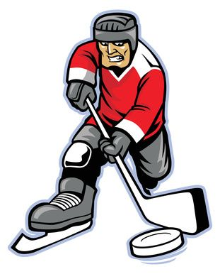 hockey player cartoon